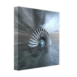 Surreal Frozen Sea Canvas Print