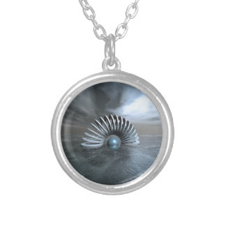 Surreal Frozen Sea Silver Plated Necklace