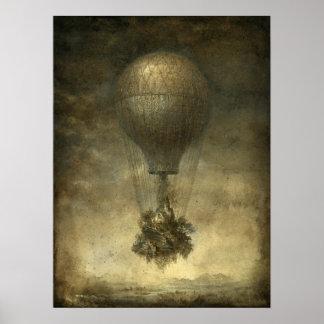 Surreal Hot Air Balloon Poster