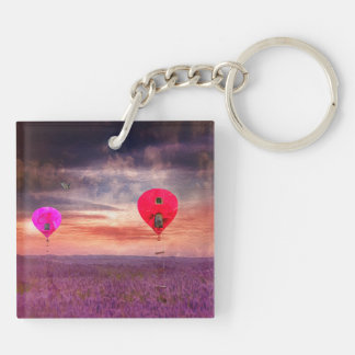 Surreal Hot Air Baloons Key Ring