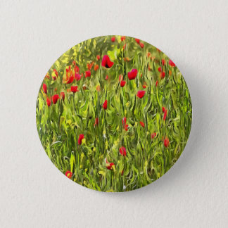 Surreal Hypnotic Poppies 6 Cm Round Badge