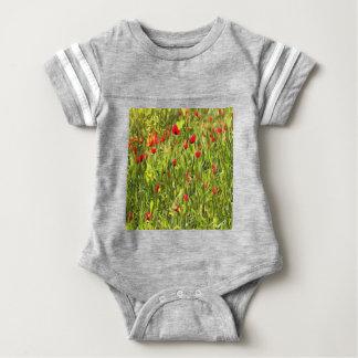 Surreal Hypnotic Poppies Baby Bodysuit