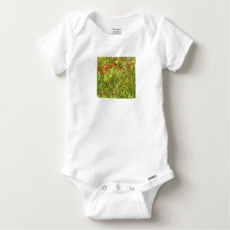 Surreal Hypnotic Poppies Baby Onesie