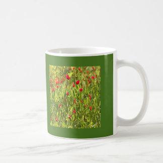 Surreal Hypnotic Poppies Coffee Mug