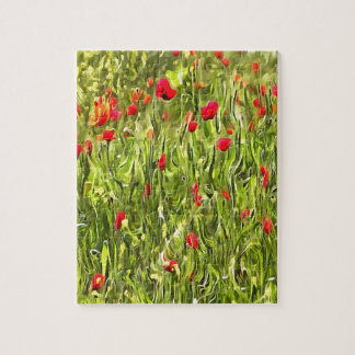 Surreal Hypnotic Poppies Jigsaw Puzzle