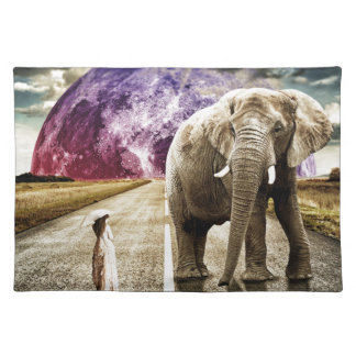 surreal I AND MY ELEPHANT Placemat