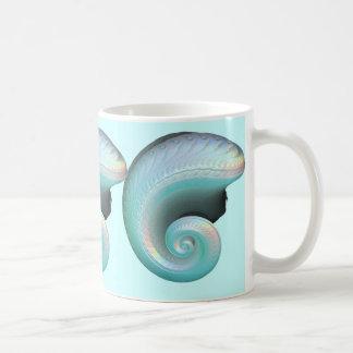 Surreal Jade Rainbow Shell Coffee Mug