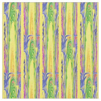 Surreal Melted Colors Design Fabric
