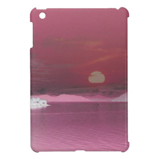 Surreal Pink Fantasy World Ocean Sunset iPad Mini Cover