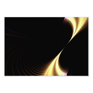 Surreal Purple Fractal Vortex 3.5x5 Paper Invitation Card