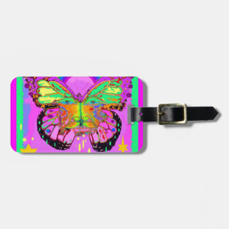 Surreal Rainbow Butterfly Art Kid Gifts by Sharles Luggage Tag