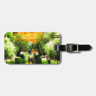 Surreal Renaissance Garden Luggage Tag