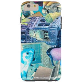 surreal robot animal tech collage tough iPhone 6 plus case