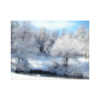 Surreal Snow Stretched Canvas Prints
