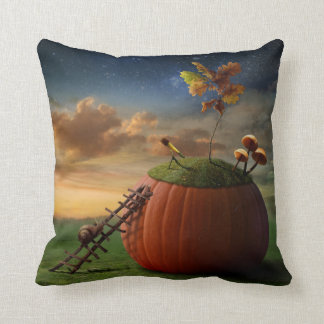 Surreal Stargazer Snail Throw Pillow