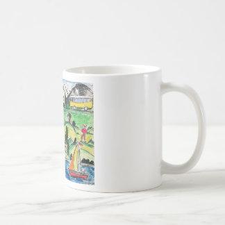 Surreal travel basic white mug