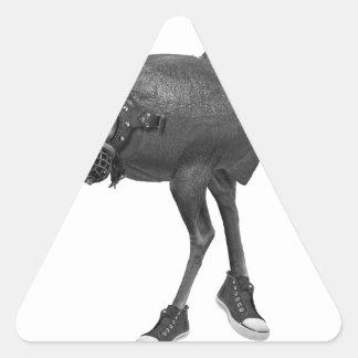 surreal triangle sticker
