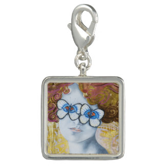 Surreal Vintage Inspired Butterfly Eyes Charm