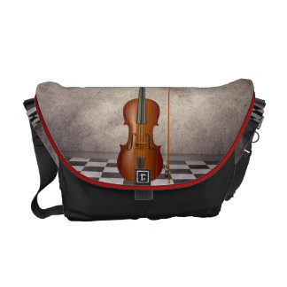 Surreal Violin   Rickshaw Messeng Commuter Bag