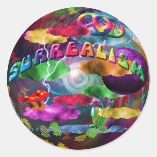Surrealism Round Sticker