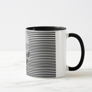 Surrealistic skull mug