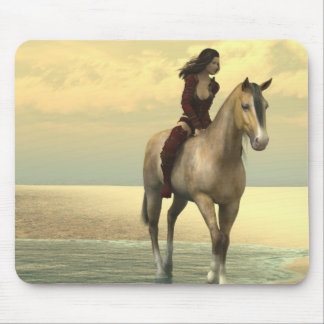 Surreality - Girl on a Horse Mouse Pad