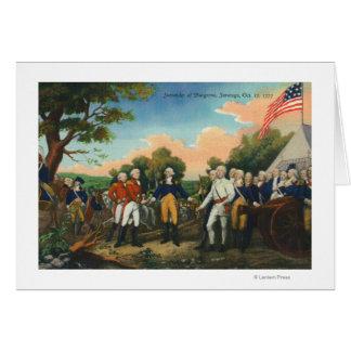 Surrender of Burgoyne Greeting Card