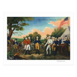 Surrender of Burgoyne Postcard