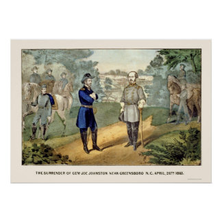 Surrender of General Johnston,  1865 Poster