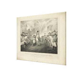 Surrender of Lord Cornwallis at Yorktown Va. Canvas Print