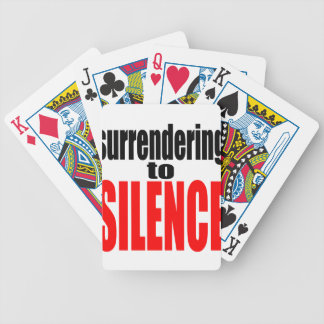 surrender silence vote election red trump hillary bicycle playing cards