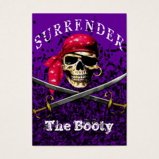Surrender The Booty Pirate Business Card template