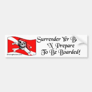 Surrender Yer Booty Bumpersticker Bumper Sticker
