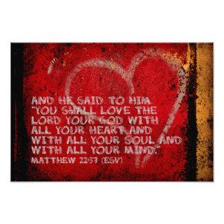 Surrendering All Matthew 22:37 Scripture Photo Art