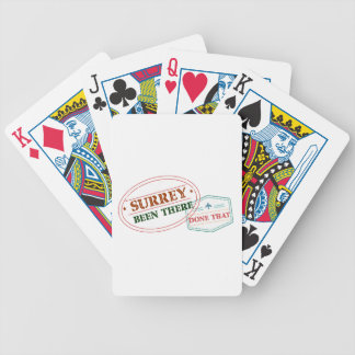 Surrey Been there done that Bicycle Playing Cards