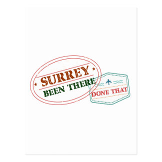 Surrey Been there done that Postcard