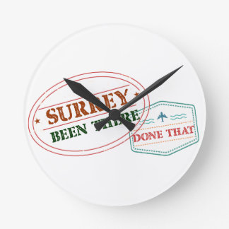 Surrey Been there done that Round Clock