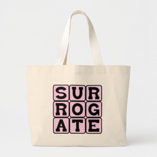 Surrogate Understudy or Stand-In Canvas Bag