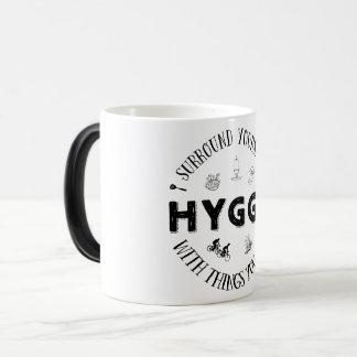 Surround Yourself w. Hygge (B&W) Magic Mug