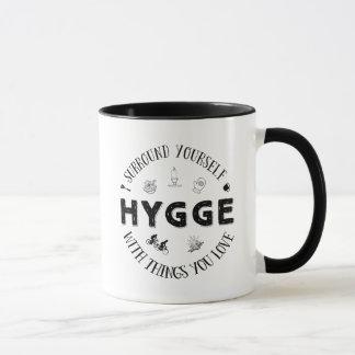 Surround Yourself w. Hygge (B&W) Mug