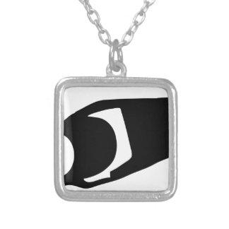 Surveillance Camera Silver Plated Necklace