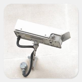 Surveillance camera square sticker