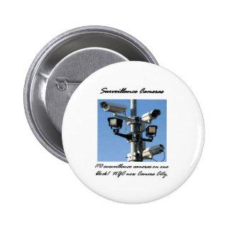 Surveillance Cameras Pinback Buttons