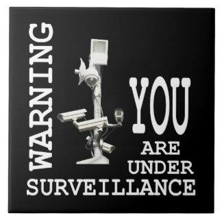 Surveillance video cameras ceramic tile
