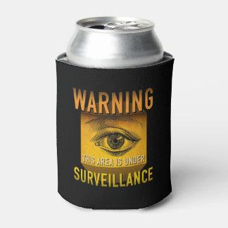 Surveillance Warning Big Brother Atomic Age Grunge Can Cooler