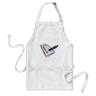 Survey clip board and pen icong aprons