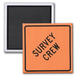 Survey Crew Highway Sign Magnet