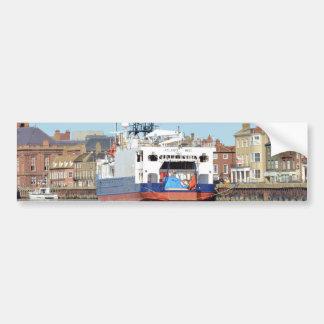 Survey Ship Atlantic Wind Bumper Sticker
