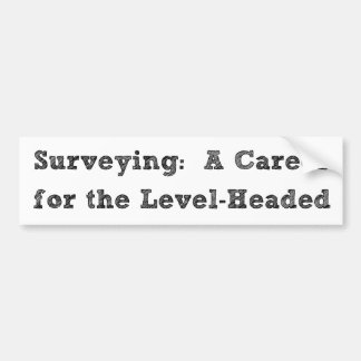 Surveying Rocks Bumper Sticker