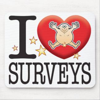Surveys Love Man Mouse Pad
